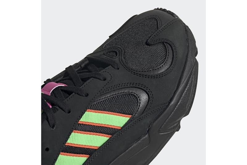 "adidas Yung-1 ""Black Neon"" Release three strips pink Tokyo Neon green yellow"