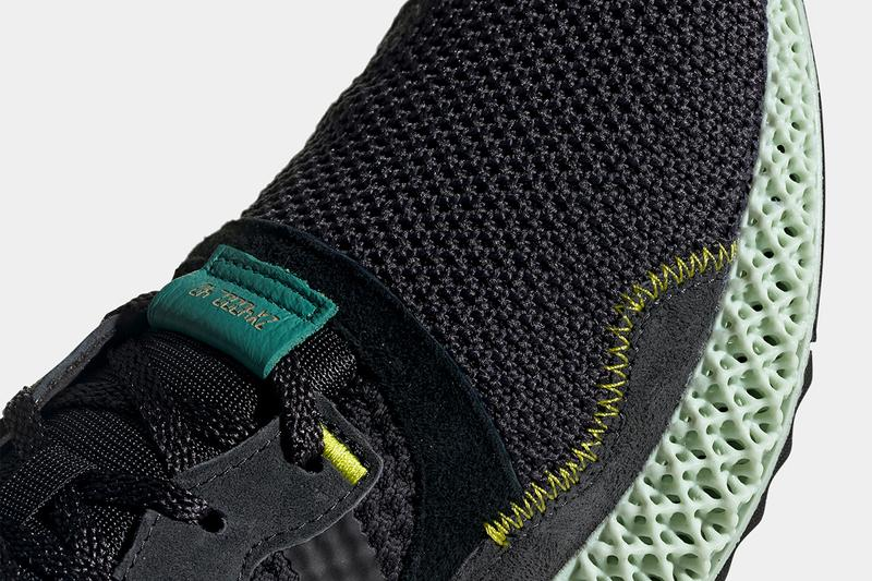 adidas Performance ZX 4000 4D Carbon Semi Solar Yellow Release Date Drop Information How To Cop Where To Buy Sneakersnstuff Footpatrol End Technology Shoe Footwear Sneaker Runner Retro Inspired 2019 April