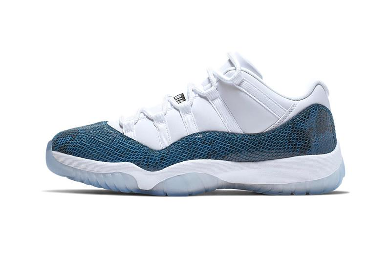 size 40 a1f09 77520 Air Jordan 11 Low Navy Snakeskin Release Info CD6846-102