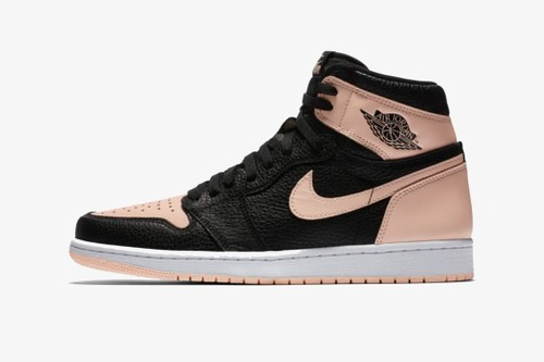 The Air Jordan 1 Receives New Leather in BLACK/PINK Colorway