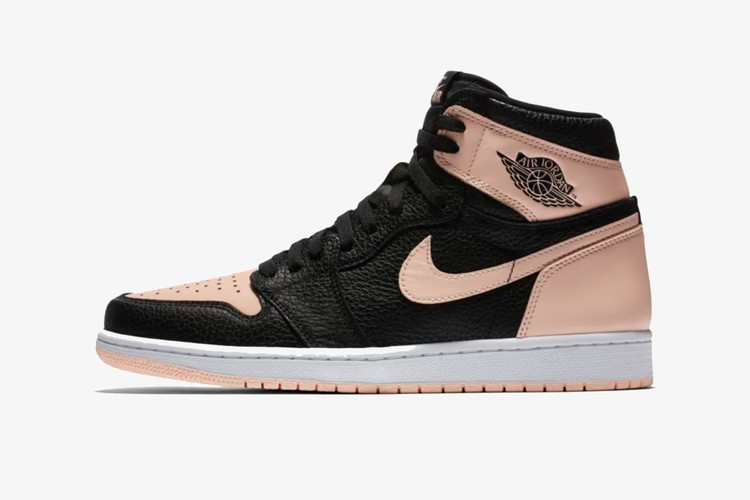 size 40 4f0fe ad196 The Air Jordan 1 Receives New Leather in BLACK PINK Colorway