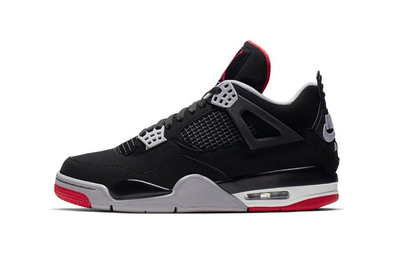 "Air Jordan 4 ""Bred"" Available StockX black red brand michael chicago bulls frey white sports basketball nike swoosh"
