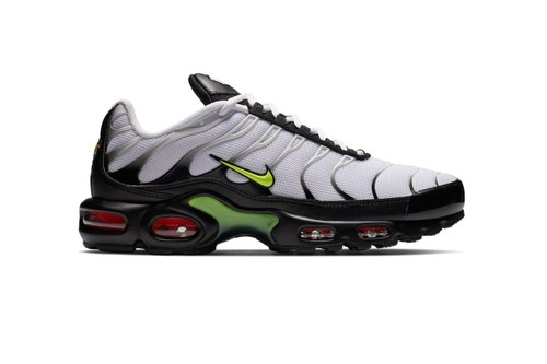 "Nike Also Reworks The Air Max Plus With ""Volt/Bright Crimson/Black"" Colorway"