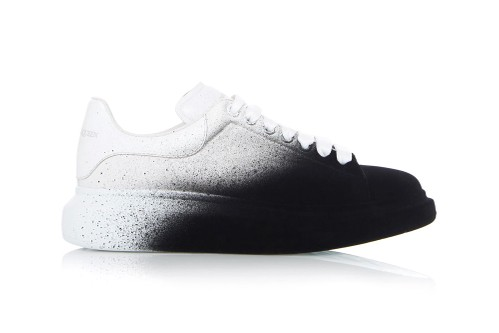 Alexander McQueen Spray Paints Oversized Sneakers Black and White