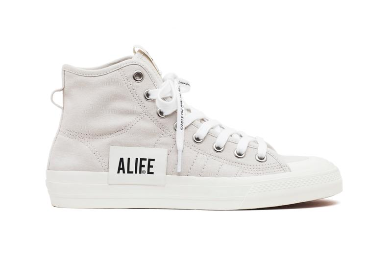 Alife x adidas Consortium Nizza Hi Collaboration White Canvas Color Bands tpu release date info may 2 11 release date drop info buy
