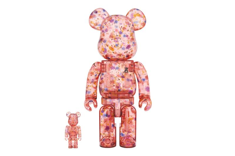 ANREALAGE x Medicom Toy BE@RBRICK bearbrick Dry Flower clear red 100% & 400% release