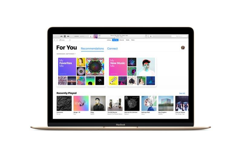 Apple iTunes Three Apps Music TV Podcast Books macOS iOS iPhone Macbook