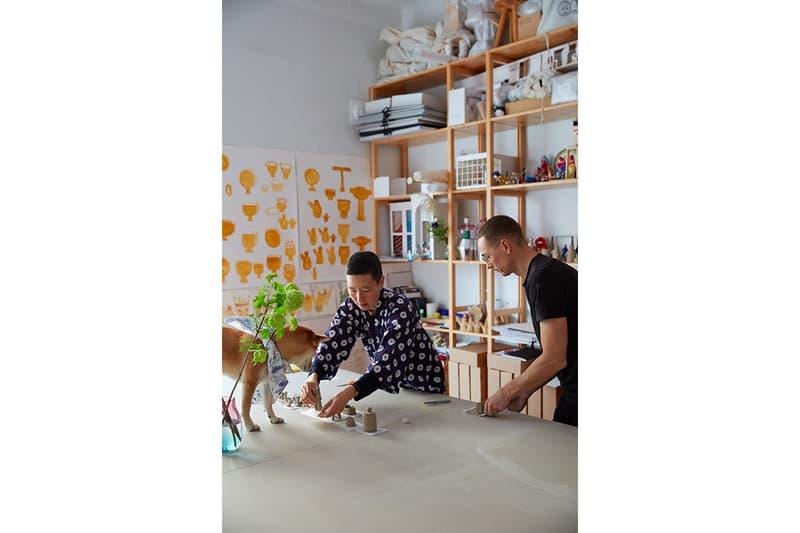 Artek FIN/JPN Friendship Collection Milan Design Week 2019 home interior goods accessories furniture stool book Jo Nagasaka ColoRing COMPANY Secrets of Finland Kirsikankukka pattern Pieces of Aalto Akira Minagawa Koichi Futatsumata Kiulu Bench Stool 60, Bench 153B and Tea Trolley 901