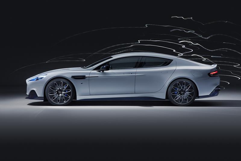 Aston Martin Rapide E Electric Supercar Four Door Saloon 2019 Redesign Engine Power Tesla Competitor Two e-motors 65kWh 700 lb-ft torque 604bhp 200 mile range