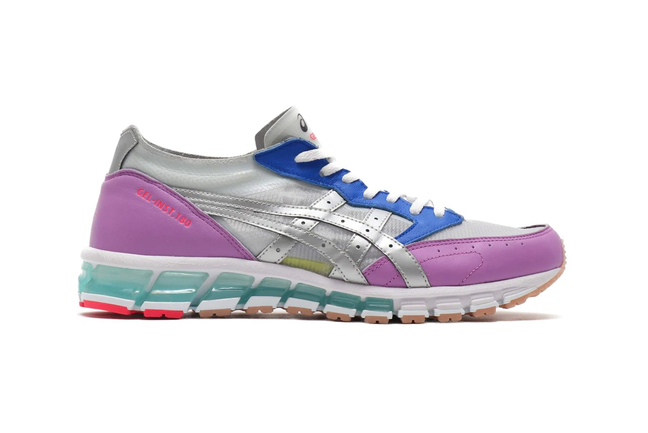 atmos asics gel inst 180 nexki orange purple white silver colorway release