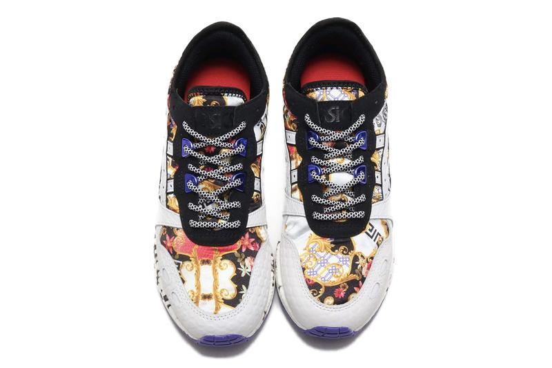 atmos tokyo Asics Tiger Hyper Gel Lyte Black White Floral Baroque Purple Spring Summer 2019 SS19 Sneaker Release Exclusive Rare Japan