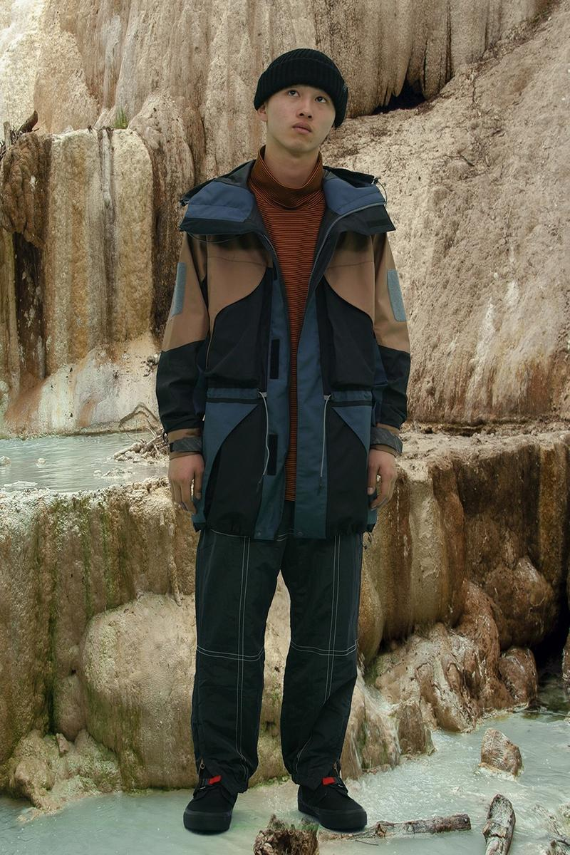 BAL Drops Post-War Avant-Garde Inspired Fall/Winter 2019 Lookbook Fashion Japanese Streetwear Jose Parla Nylon Metal Technology Moisture-Permeable Three-Layer Fabric Polyester Material Bonded Fleece Material With Enhanced Wind Resistance.