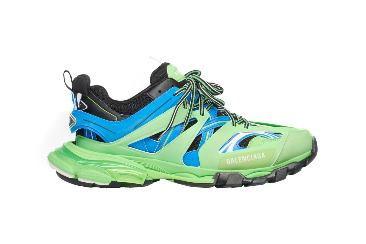Balenciaga Track Trainer Green, Blue