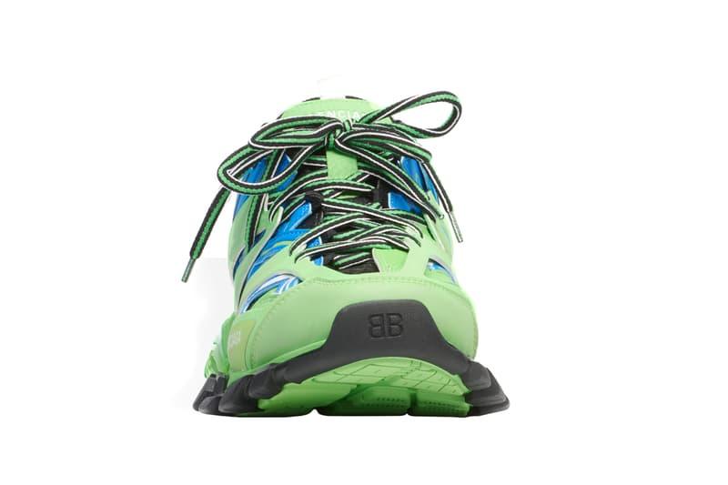 balenciaga track trainer green blue release spring summer 2019