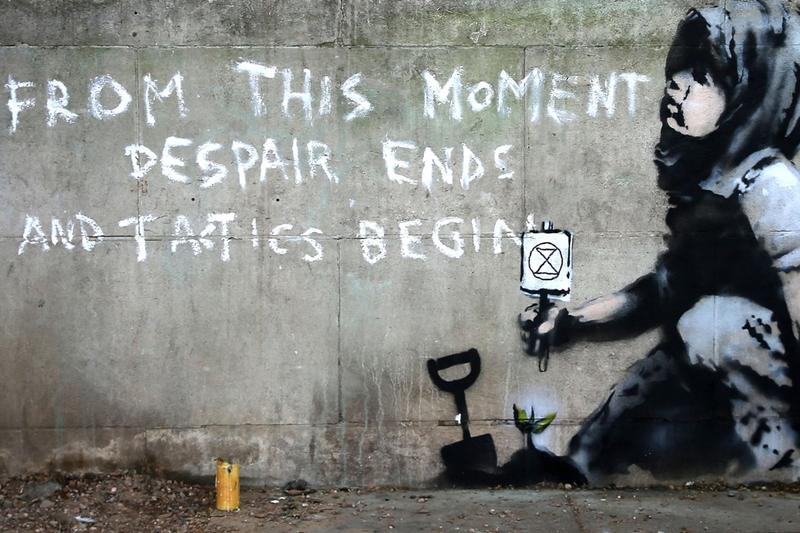 banksy extinction rebellion marble ach london artworks street art