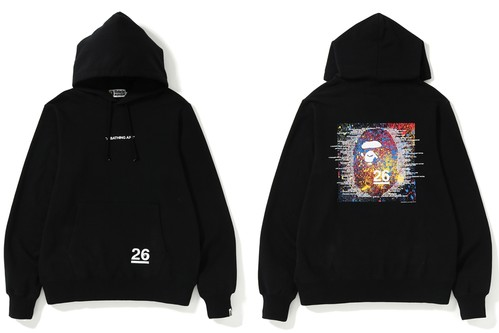 BAPE Debuts New Hoodies & T-Shirts for 26th Anniversary Collection