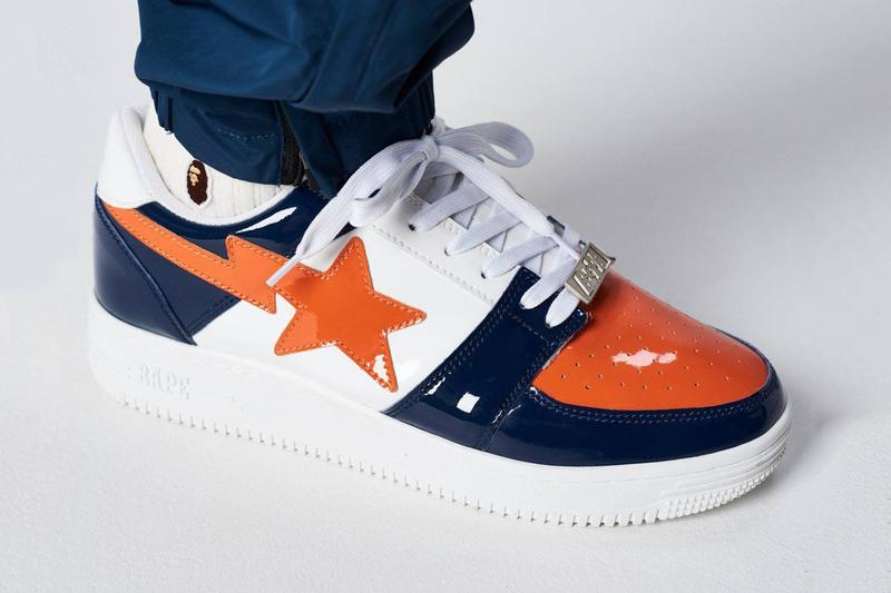BAPE BAPESTA SS19 Colorways orange blue ape head a bathing ape red green greey icy blue brown white