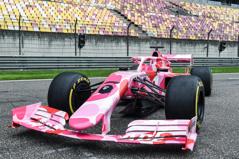 BAPE x Formula One Racing Car Pink ABC Camo a bathing ape f1 shanghai grand prix 2019 Formula 1 Heineken China Grand Prix