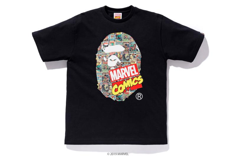 the latest c0015 c6a3a BAPE x Marvel Comics Collaboration Spring summer 2019 collection iron man  captain america the hulk black