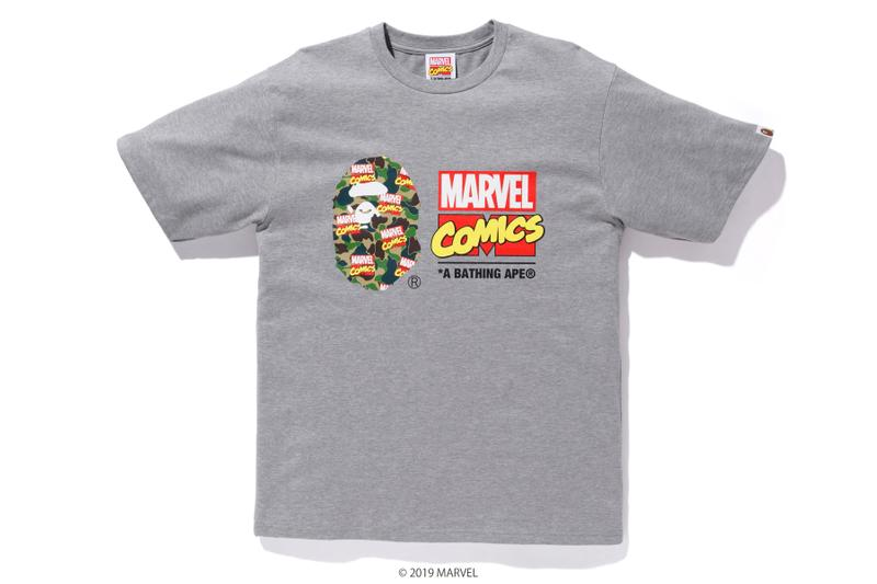 BAPE x Marvel Comics Collaboration Spring summer 2019 collection iron man captain america the hulk black widow accessories baby milo