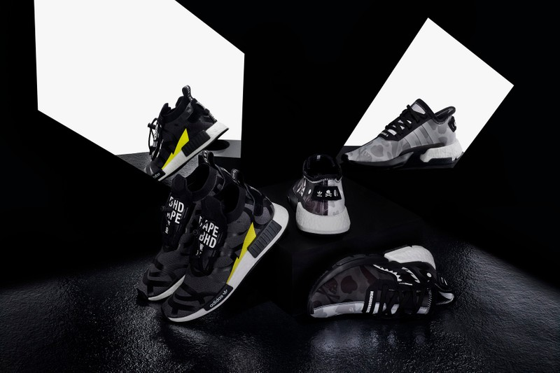 "4569be2981dd5 BAPE x NEIGHBORHOOD x adidas Originals ""NHBAPE® POD S-3.1"" and NMD"