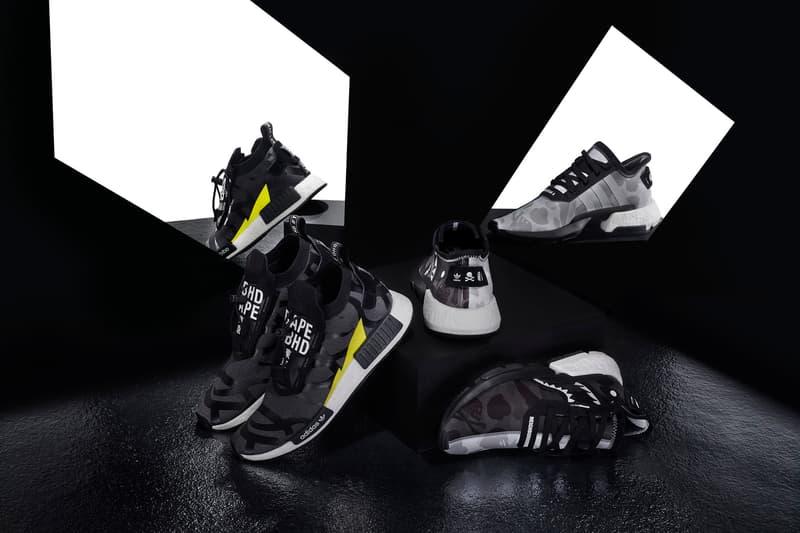 ea451efae BAPE x NEIGHBORHOOD x adidas Originals NHBAPE POD S-3.1   NMD STLT Wider  Release