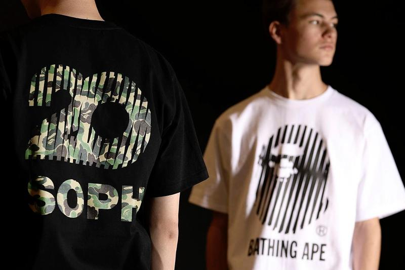 SOPH.20 × BAPE Capsule Teaser sophnet. a bathing ape collaborations t-shirts camo ape heads