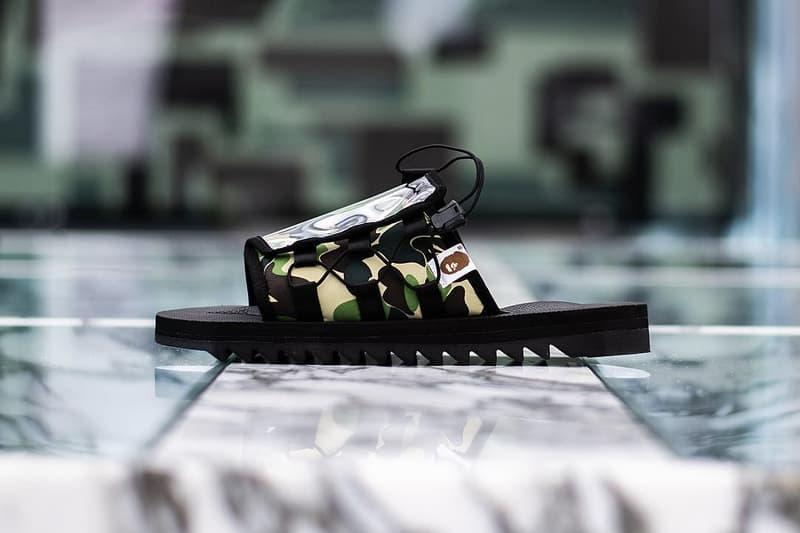 "ad5526a6 SUICOKE x BAPE Spring/Summer 2019 Collection sandals slides ""DAO"" ""MOTO-"