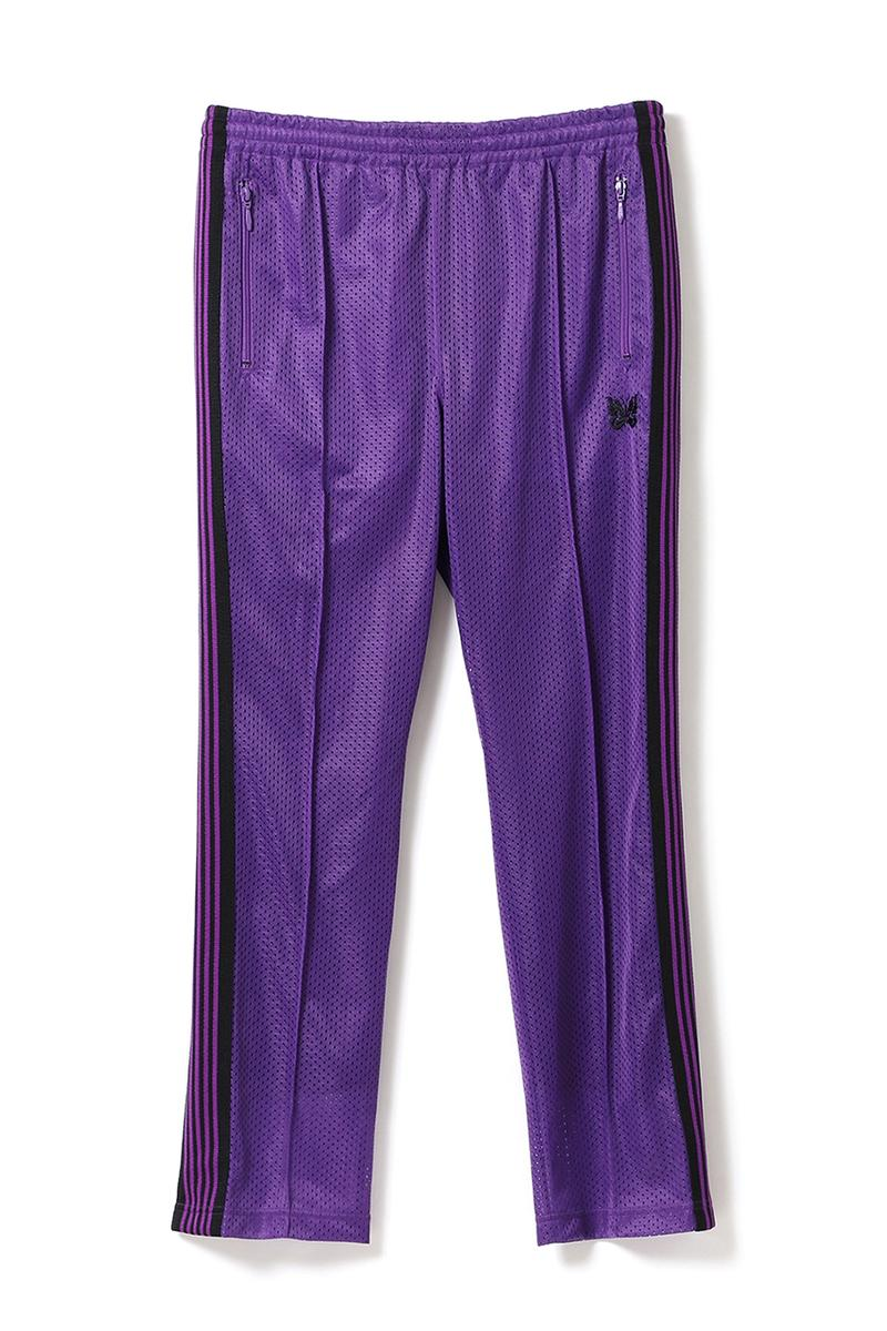 beams needles track suit jacket pants black purple stripe butterfly mesh exclusive harajuku release date info drop buy