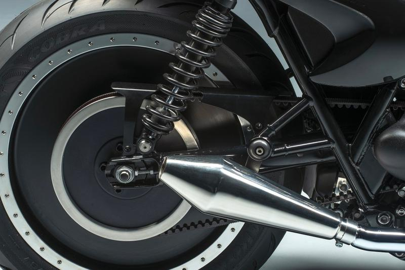 Berluti Custom Triumph Motorcycle at Sotheby's auction bonneville t120 racing leather bespoke
