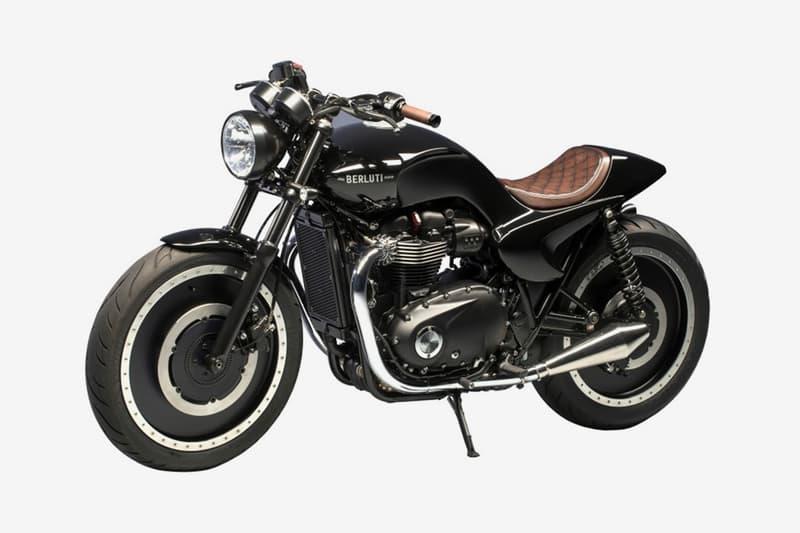 Berluti Custom Triumph Motorcycle At Sothebys Hypebeast