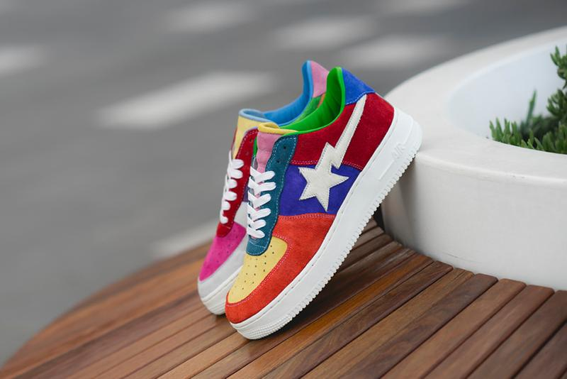 bespokeind nike air force 1 one what the swoosh bape multicolor sneaker release