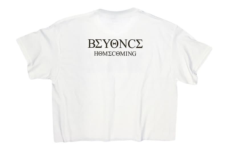 Beyoncé Drops 'Homecoming' Merchandise With Live Album tee shirt hoodie logo branding beychella release date drop info buy store official
