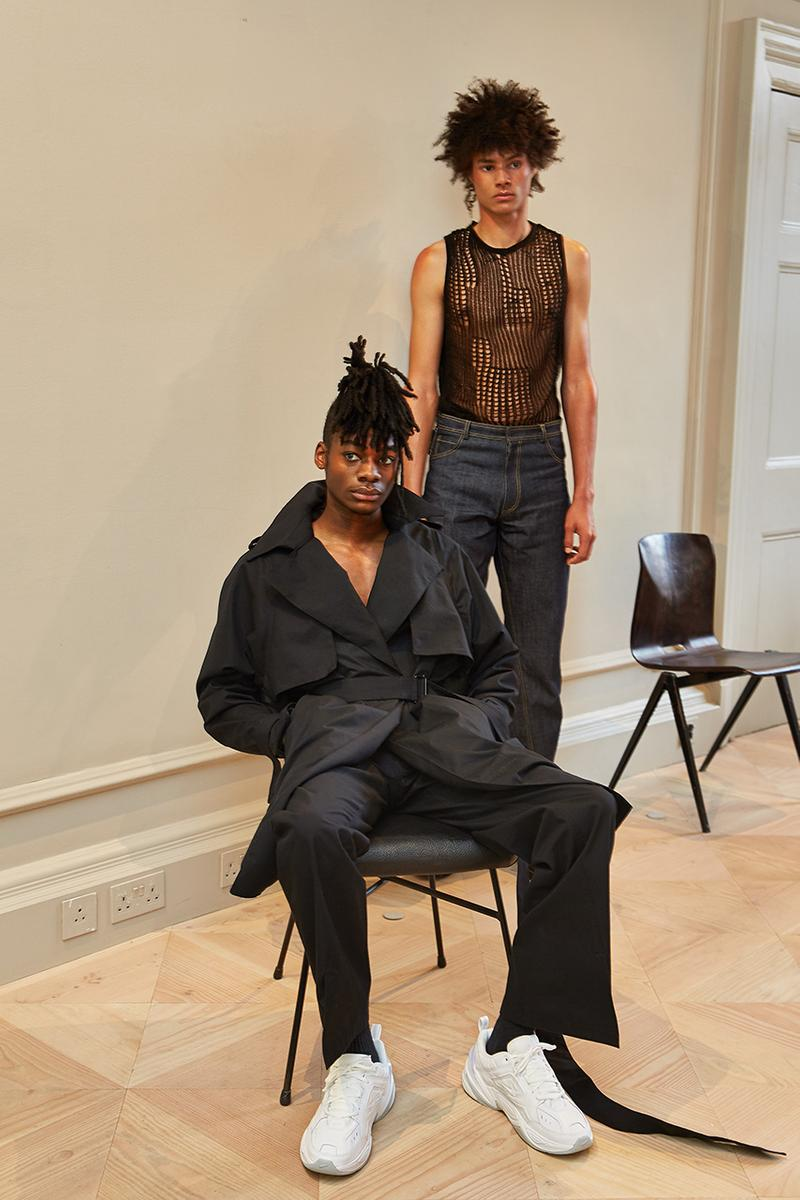 "Bianca Saunders ""Unravelling"" AW19 FW19 Fall Winter 2019 Autumn Collection Lookbook The Royal College of Art Graduate Designer Menswear Label London"
