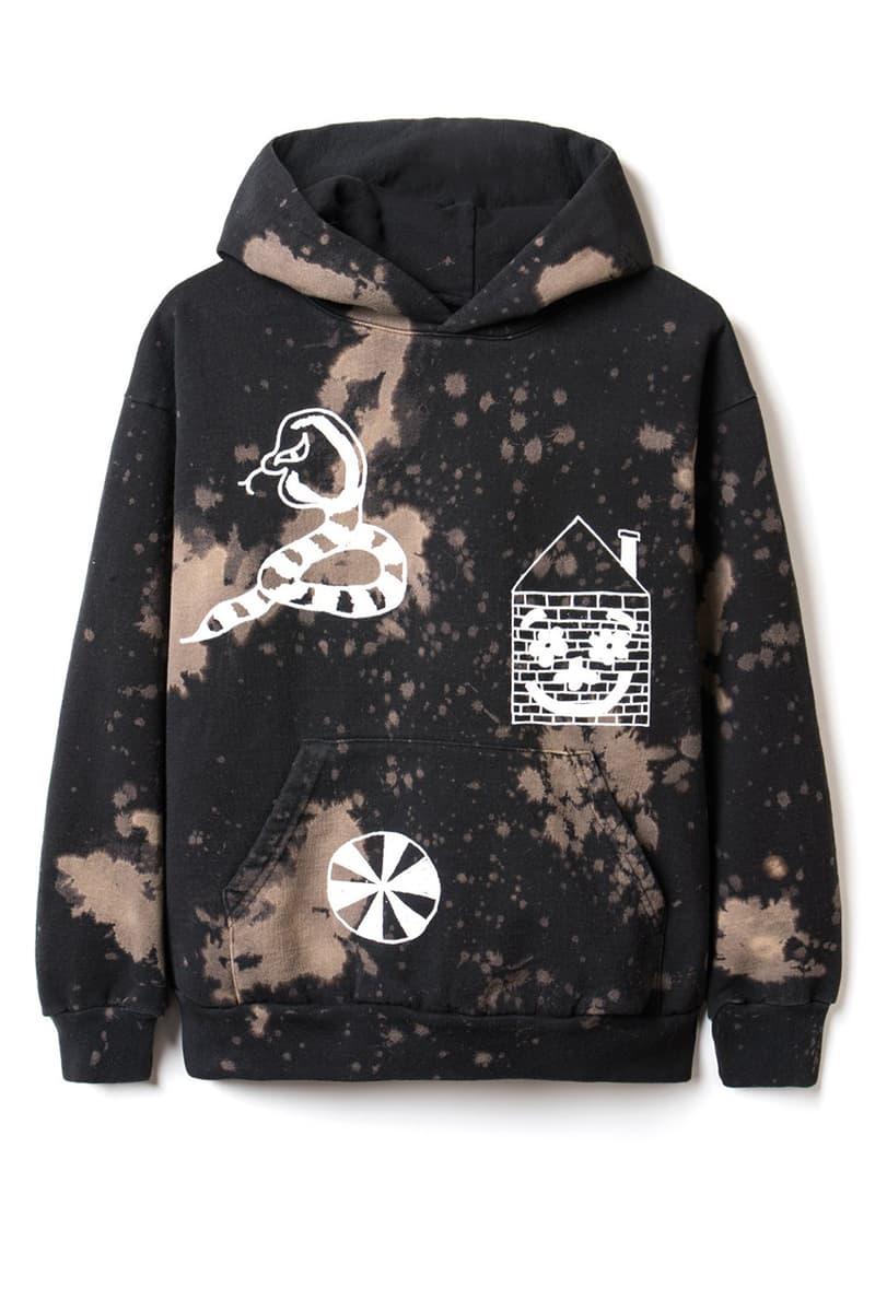 Brain Dead x Slam Jam Hand-Dyed Capsule Collaboration sweater sweatpants tee shirt logo jason wright bleach splatter