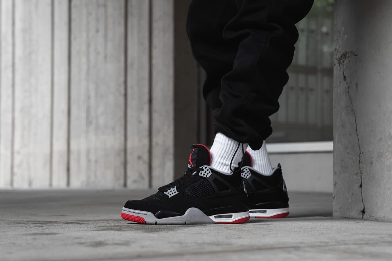 "On Foot With Air Jordan 4 Retro OG ""Bred"""