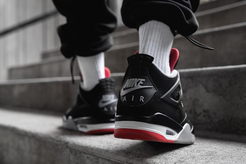 Air Jordan 4 Retro Og Bred Colorway On Feet Hypebeast
