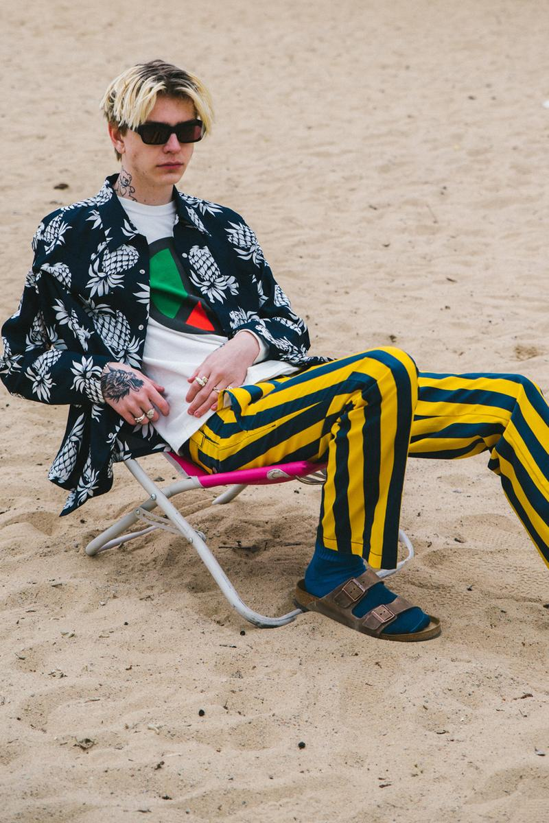 caliroots cali roots spring summer 2019 lookbook editorial city beach bum prints layering versace champion
