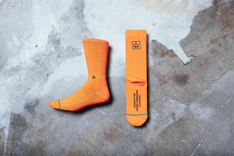 The Stance for Carhartt WIP Range Release socks lookbooks camo orange accessories
