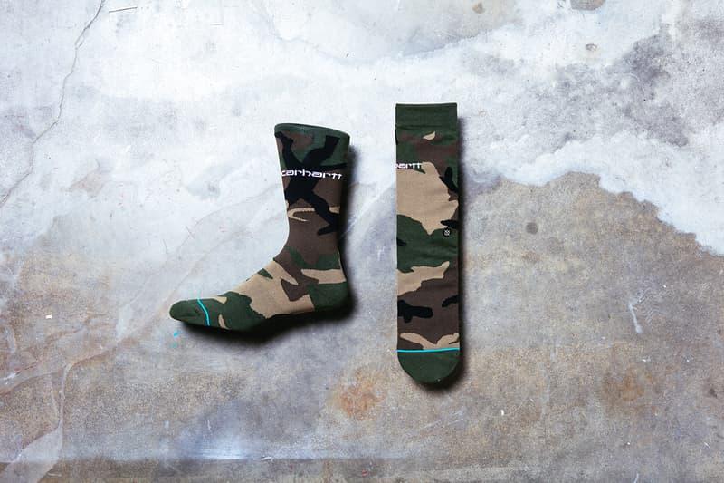 The Stance for Carhartt WIP Range Release socks lookbooks camo orange accessories