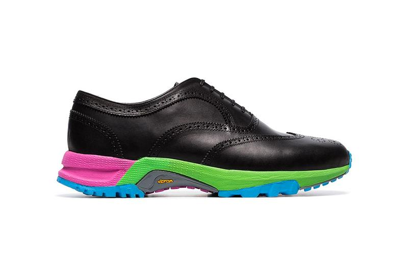Comme Des Garçons Homme Plus Vibram Wingtip Brogues rainbow sole contrast sole multi-color leather BROWNS 13887194 PCK123S19 rubber