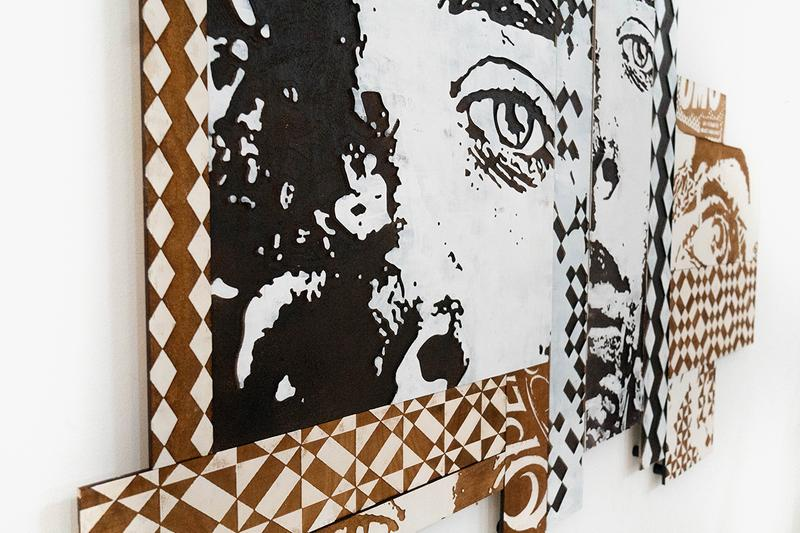 Configurable Art VHILS Showcase Gallery Exhibition Underdog Art Store Lisbon Abstract Design Collection Special Guest Graffiti Carved Woodwork Piece Portrait Laser Cut Pop Art Checkerboard Photography Reel Negative