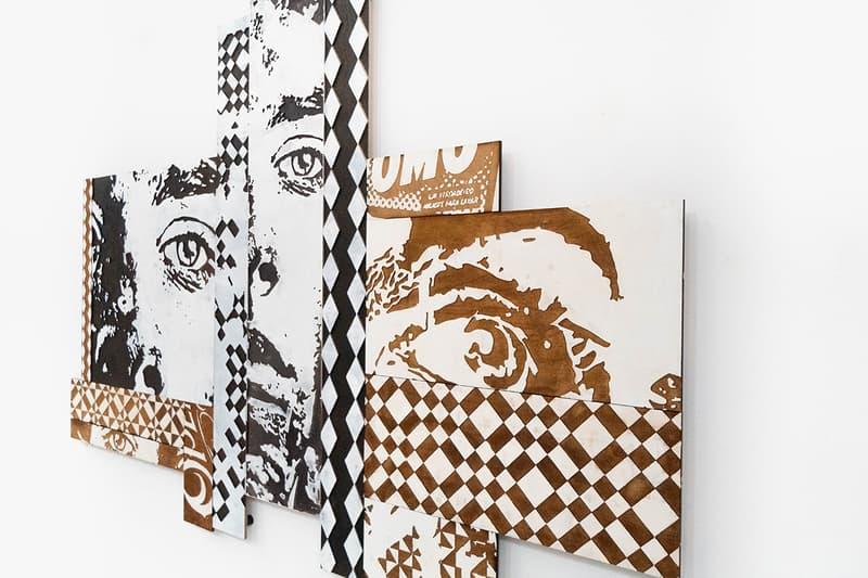 Configurable Art VHILS Showcase Gallery Exhibition Underdog Art Store Lisbon Abstract Design Collection Special Guest Graffiti Carved Woodwork Piece Portrait Laser Cut Pop Art Checkerboard Photography Reel Negative