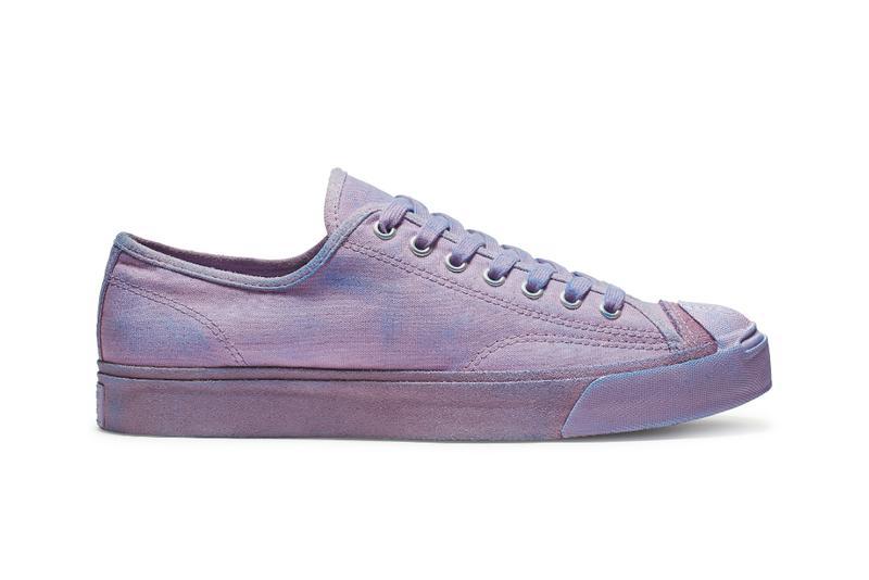 JACK PURCELL BURNISHED suede converse shoes sneakers ss19 spring summer 2019 purple low top orange egret suede Washed Lilac Totally Blue