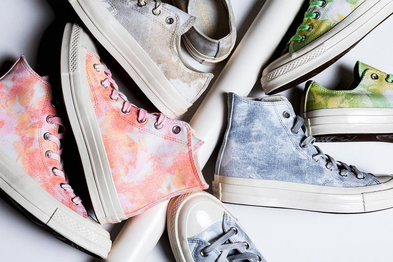 Converse Greets Spring with a Tie Dye Chuck 70 Collection floral retro sneakers shoes