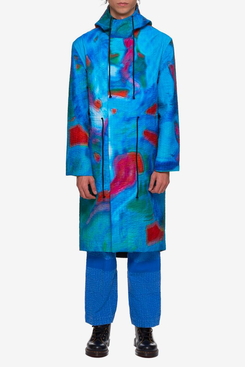 Craig Green Vibrating Scene Parka Release info drop date price stockist h. lorenzo all-over print parka jacket outwear menswear WOCO03-YELLOW WOCO03-BLUE