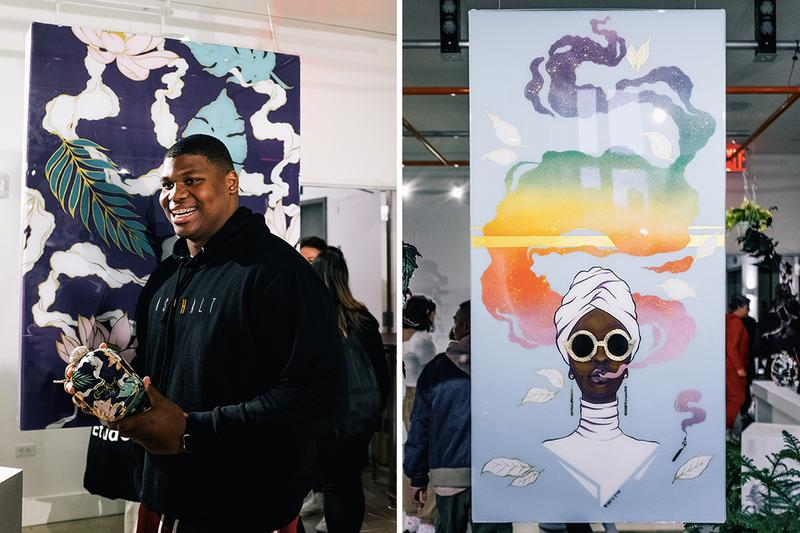 Crown Royal Roshi K Launch Event Recap 50 bowery party bag Quinnen Williams