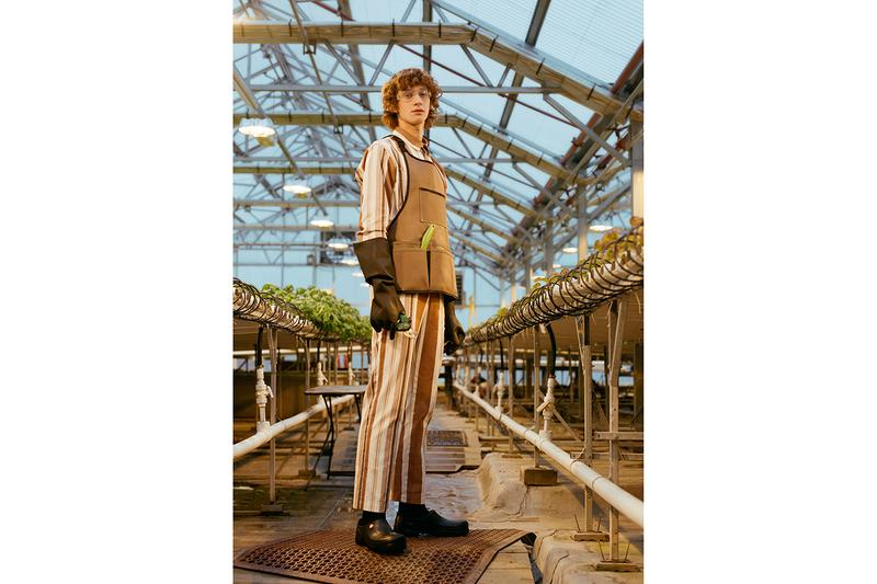 Dickies 1922 Opening Ceremony Spring Summer 2019 SS19 Capsule Collection Collaboration Lookbook Release Date Drop Information Unisex Cotton Canvas Lab Coat Work Pants Workwear Shirt Stripe Block Color Set Two Piece How To Purchase Where To Buy openingceremony.com