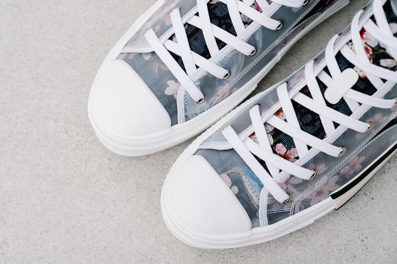 dior hajime sorayama dinosaur sneaker b23 high top pre fall 2019 collection release date closer look style rubber drop release date buy web store 3SH118YQC_H563
