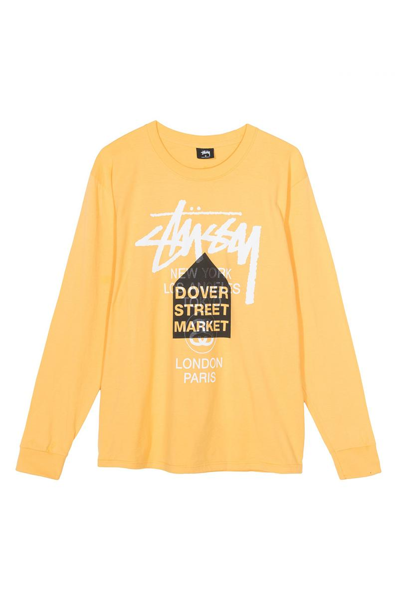 Stüssy Dover Street Market Los Angeles Tour Tees spring 2019 summer collaboration collection hoodie sweater print co branding graphic logo buy web store international tribe